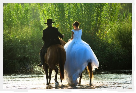 Maries a cheval eau